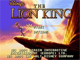Title screen of Lion King on the Commodore Amiga.