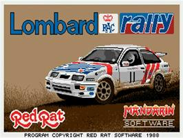 Title screen of Lombard RAC Rally on the Commodore Amiga.