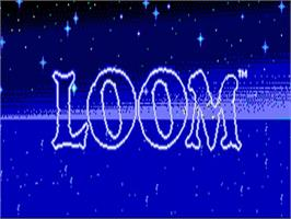 Title screen of Loom on the Commodore Amiga.