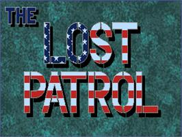 Title screen of Lost Patrol on the Commodore Amiga.