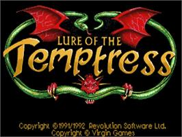 Title screen of Lure of the Temptress on the Commodore Amiga.