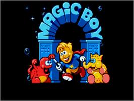 Title screen of Magic Boy on the Commodore Amiga.