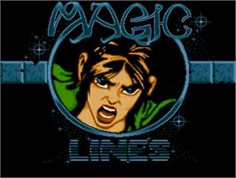 Title screen of Magic Lines on the Commodore Amiga.