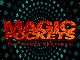 Title screen of Magic Pockets on the Commodore Amiga.