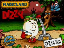 Title screen of Magicland Dizzy on the Commodore Amiga.