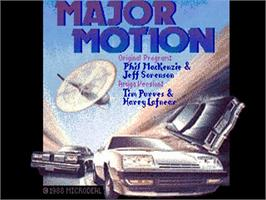 Title screen of Major Motion on the Commodore Amiga.