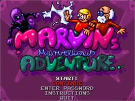 Title screen of Marvin's Marvellous Adventure on the Commodore Amiga.