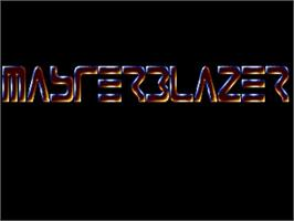 Title screen of Master Blazer on the Commodore Amiga.