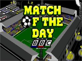 Title screen of Match of the Day on the Commodore Amiga.