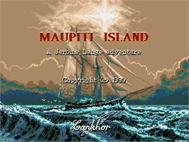 Title screen of Maupiti Island on the Commodore Amiga.