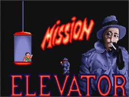 Title screen of Mission Elevator on the Commodore Amiga.