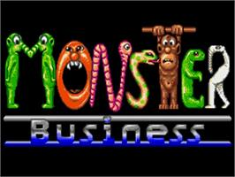 Title screen of Monster Business on the Commodore Amiga.