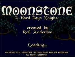 Title screen of Moonstone: A Hard Days Knight on the Commodore Amiga.
