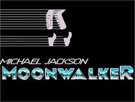 Title screen of Moonwalker on the Commodore Amiga.