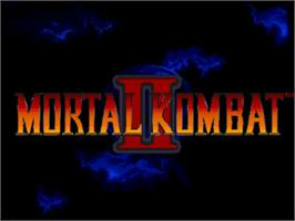 Title screen of Mortal Kombat II on the Commodore Amiga.