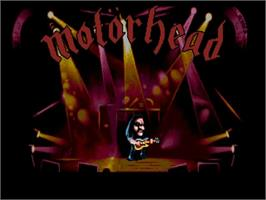 Title screen of Motorhead on the Commodore Amiga.