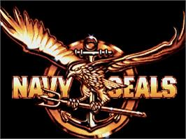 Title screen of Navy Seals on the Commodore Amiga.