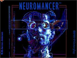 Title screen of Neuromancer on the Commodore Amiga.