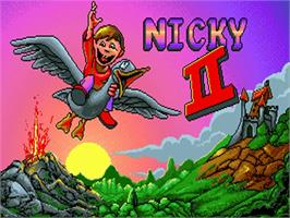 Title screen of Nicky 2 on the Commodore Amiga.