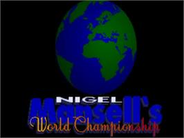 Title screen of Nigel Mansell's World Championship on the Commodore Amiga.