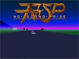 Title screen of No Second Prize on the Commodore Amiga.