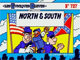 Title screen of North & South on the Commodore Amiga.