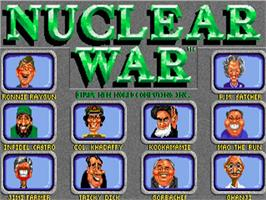 Title screen of Nuclear War on the Commodore Amiga.
