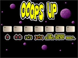 Title screen of Ooops Up on the Commodore Amiga.
