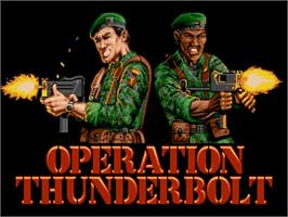 Title screen of Operation Thunderbolt on the Commodore Amiga.