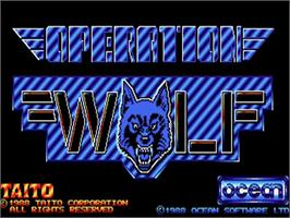 Title screen of Operation Wolf on the Commodore Amiga.