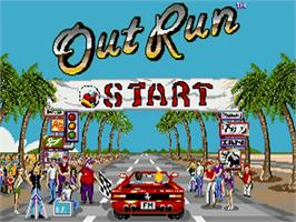 Title screen of Out Run on the Commodore Amiga.