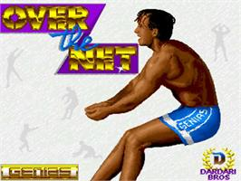Title screen of Over the Net on the Commodore Amiga.