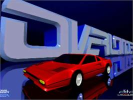 Title screen of Overlander on the Commodore Amiga.