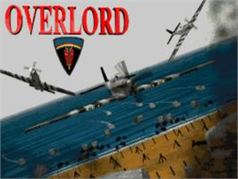 Title screen of Overlord on the Commodore Amiga.