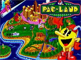 Title screen of Pac-Land on the Commodore Amiga.