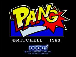 Title screen of Pang on the Commodore Amiga.