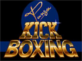 Title screen of Panza Kick Boxing on the Commodore Amiga.