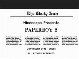 Title screen of Paperboy 2 on the Commodore Amiga.