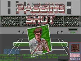 Title screen of Passing Shot on the Commodore Amiga.