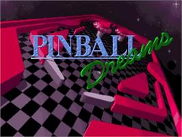 Title screen of Pinball Dreams on the Commodore Amiga.