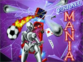 Title screen of Pinball Mania on the Commodore Amiga.