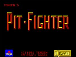 Title screen of Pit Fighter on the Commodore Amiga.