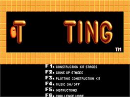Title screen of Plotting on the Commodore Amiga.