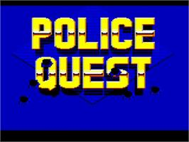 Title screen of Police Quest: In Pursuit of the Death Angel on the Commodore Amiga.
