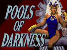 Title screen of Pools of Darkness on the Commodore Amiga.