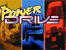 Title screen of Power Drive on the Commodore Amiga.