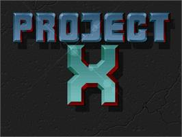 Title screen of Project-X on the Commodore Amiga.