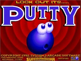Title screen of Putty on the Commodore Amiga.