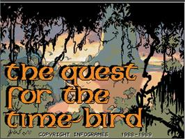 Title screen of Quest for the Time-bird on the Commodore Amiga.
