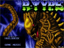 Title screen of R-Type on the Commodore Amiga.